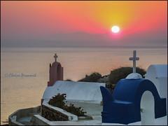 Sunset.  Oia (Claire Pismont) Tags: sunset color colorful santorini caldera santorin couleur oia cyclades cycladic pismont clairepismont