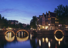 A Lovely Blue Hour in Amsterdam (NOAC_) Tags: world lighting street city travel blue light sunset urban holland reflection art classic tourism water netherlands beautiful dutch amsterdam architecture night photography evening canal globe europe long exposure downtown european cityscape angle pentax dusk low 28mm tripod sightseeing central wide nederland cities sigma peaceful tourist medieval architectural hour reflective bluehour traveling f18 nederlands renaissance hollands k5 classy iis globetrotter globetrotting