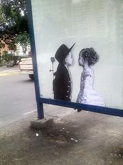 In love (D11 Urbano) Tags: boy art girl poster stencil arte venezuela nios caracas urbano venezolano arteurbano d11 streetartvenezuela artvenezuela d11streetart arteurbanovenezuela d11art d11urbano