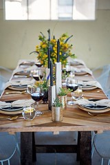 One Table 4 Ways @ The Fitters Workshop Canberra (ACT Property Group) Tags: easter tabledecor wattle hire candles fitters workshop canberra redwine rustic