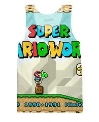 Super Mario World title screen tank top (Memes, T-Shirts) Tags: world funny geek nintendo 8 tshirt super mario retro gaming gifts pixel pixelart nes 16 8bit tshirts merch maker mariobros bros tee yoshi bit snes supermario 16bit mariomaker