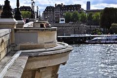 Pont Neuf: Bastion (AntyDiluvian) Tags: trip bridge paris france seine river bastion pontneuf 2015