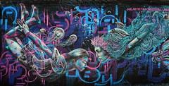 Undersea Adventure Times Three (Eddie C3) Tags: streetart art astoriaqueens wallmurals wellingcourtmuralproject arasolart