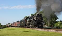 NKP 765 (binsiff) Tags: train illinois track smoke steamengine nkp 765 passengercars northglenview