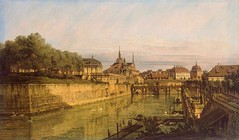 Bernardo Bellotto - The Hermitage Museum -1384. Moat of Zwinger in Dresden (c. 1750s) (lack of imagination) Tags: trees people water birds buildings blog cityscape hermitagemuseum 15002000 bernardobellotto