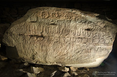 Calendar Stone at Knowth (mythicalireland) Tags: ireland moon archaeology monument stone spiral calendar fullmoon valley astronomy symbols lunar boyne calculations knowth passagetomb crescents