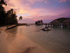 Pearl Beach Resort Sunset 1 (Geoffrey Dietrich Smith) Tags: tahiti borabora