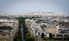 La butte Montmartre (ericbeaume) Tags: street city sky paris france monument buildings 50mm town nikon cityscape horizon montmartre avenue wagram d5100 ericbeaume