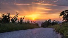 sunset karlstein (tobiasvogel30) Tags: sunset colours wolken aussicht sonne lichter farben karlstein vertrumt strase weinstadt strmpfelbach