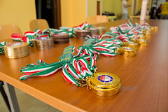 The wait for the winners (Kr3li4n) Tags: sport table contest award competition match prize boxing kickboxing boxe medals tricolore