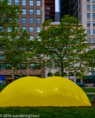 Chicago2016PublicArt: Yellow Arch (wanderingYew2 (thanks for 4M+ views!)) Tags: sculpture chicago illinois artinstituteofchicago publicart sculpturegarden wendellcastle yellowarch
