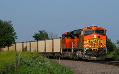 Look, Maw!  A Coal Train! (Jeff Carlson_82) Tags: railroad train railway iowa ia coal h2 ge railfan bnsf osceola burlingtonnorthernsantafe gevo 5729 es44ac ottumwasub cxcbtm