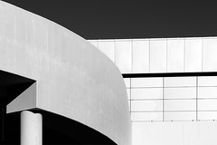 Untitled (domenicocarusophoto) Tags: travel urban blackandwhite inspiration building travelling lines museum architecture modern facade contrast concrete grey asia shadows geometry contemporary patterns curves perspective structure seoul southkorea shining leading bnw geometries