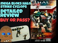 Mega Bloks Halo Strike Cyclops Detailed Review! (ChewyBricks HD) Tags: lego halo megabloks unscmarine