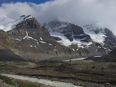 Athabasca Glacier (Sergiy Matusevych) Tags: road park trip mountain canada travels jasper glacier national needle alberta parkway cleopatra athabasca icefield