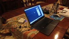 IMG_4952 JerryW backyard telescope control laptop ethernet to usb converter (SBAUstars) Tags: camera backyard july 7 mount telescope astronomy connection 2016 10inch newtonian sbau jerryw astroguysb