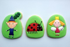 Ben & Holly Cookies (TootyFrooty75) Tags: party cookies kids children little ben kingdom holly icing biscuits decorated favour