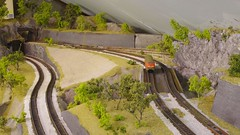 Upper and Lower lines (Concorps) Tags: ireland dublin tree scale car train layout spur model carriage pentax sony n eisenbahn railway zug german american valley locomotive  rheintal bahn gauge  roco tal spoor deutsch mosel   kx fleischmann anlage     1160  minitrix    spoorwgen  dscw220