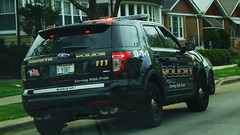 BERWYN'S FINEST  SUV.  #111 (Chicago Rail Head) Tags: ford police suv patrol berwynill