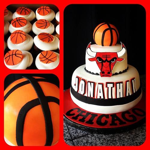 Chicago bulls cake chicagobulls basketball michaeljordan