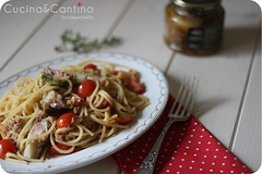 Spaghetti with artichoke and tuna (cucinaecantina) Tags: food tomato pasta spaghetti tuna pomodori artichoke foodie tonno carciofi cherrytomato pomodorini maindish