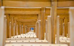 Row X (Lourens SA) Tags: madrid wood concert nikon dof chairs tunnel seats plain d7000