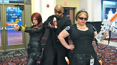 Agents of S.H.I.E.L.D. (MorpheusBlade) Tags: costume cosplay agent shield blackwidow comiccon comicon nickfury natasharomanoff ironman3 ultimatenickfury