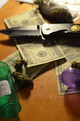 (flightlesshuman) Tags: white fire 50mm one weed knife hundred killer drugs flh kush d5100 flightlesshuman