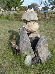 Stone sculpture (prondis_in_kenya) Tags: park sculpture stone youth kenya nairobi group jericho hotdryseason