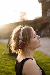 lover of the light (Wibke Bfeld) Tags: light summer woman sun flower green girl sunshine canon hair outside eos soft sommer cream atmosphere romantic sonne atmosphäre romantik haare haar romantisch 60d