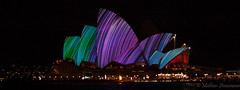 Opera house Vivid (mathias Straumann) Tags: house color colour water night lights opera harbour sydney vivid