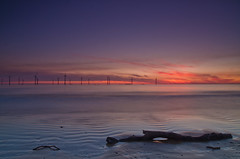 Sunrise at Redcar winfarm 2. (paul downing) Tags: summer sunrise nikon filters hitech windfarm redcar 0609 gnd coastaluk pd1001 d7000 pauldowning pauldowningphotography