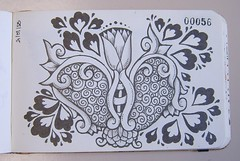 Pg 56 (Ana Navas) Tags: flowers doodles zentangles