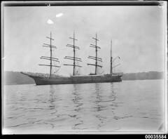 MAGDELENE VINNEN in Sydney Harbour with sails reduced