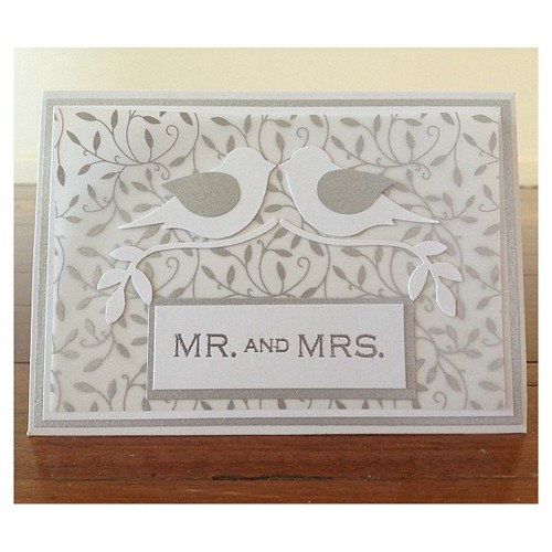 Wedding card. #cardmaking
