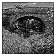 The Old Railway Line / 2 (wayman2011) Tags: bridges railways teesdale bwlandscapes footpaths stainton fujifilmx10