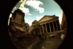 Pantheon (kitty b wonderful) Tags: 2 italy holiday rome film lomo xpro ancient cross pantheon fisheye processing process