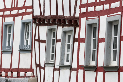 Close up of some Half-Timber houses