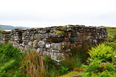Blackhouse stone ruins with moss and lichen (Monceau) Tags: stone moss ruins ferns blackhouse clearedcoast