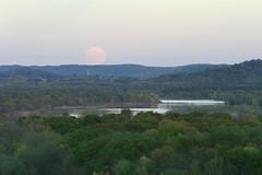 LANDSCAPE, Moonrise from Ferry Bluff, Wisconsin River, D. H. Thompson (David H. Thompson) Tags: moonrise ferrybluff wisconsinriver roxbury saukcity 20thanniversaryraw