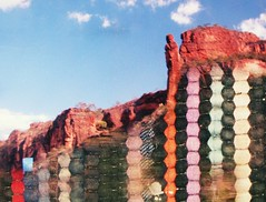 (htor) Tags: blue sky mountain art texture film colors exposure doubleexposure grain double