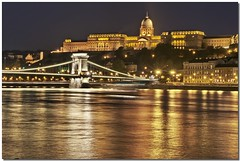 Romantic Royal Palace in Budapest (Jajaxel) Tags: bridge reflection river lights nadia hungary fiume budapest ponte luci riflessi nocturne danube notturno ungheria palazzoreale danubio pontedellecatene jajaxel