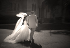 Wedding Day (Jonathan Ma.) Tags: wedding man love sepia losangeles couple dress candid streetphotography marriage romance ucla fancy