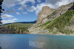 Moraine Lake (marcelarts) Tags: park travel vacation usa mountain lake snow canada ice beautiful forest amazing view awesome glacier mount national rainer westcoast moraine kanada