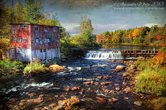 Autumn at the Mill (sminky_pinky100 (In and Out)) Tags: autumn fall river landscape pretty novascotia decay scenic textures colourful decayed abandonedmill omot cans2s exhibitionoftalent masterclassexhibtion