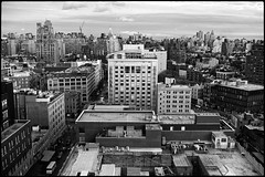 Gansevoort (paga4flickr) Tags: nyc bw newyork skyline 35mm downtown noiretblanc nb mm monochrom summilux asph meatpacking gansevoort cityview 400iso