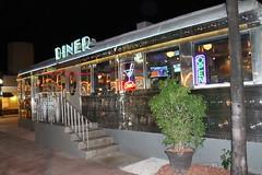 South Beach Diner (Phillip Pessar) Tags: beach architecture night canon rebel washington florida miami south diner ave t3 roadside dsl