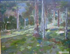 Romualdo Prati Bosco olio su tavola 22x27cm di Collezione privata