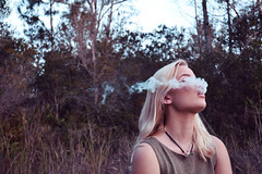 s m o k e (Ana Massard) Tags: pink urban cloud alexandria canon lawrence model woods nikon florida bokeh cigarette jennifer smoke pale blonde indie naples blondehair edit cigarettesmoke canoneosrebelxs tumblr jenniferlawrence canon1000d d3100 nikond3100 alexandriaedwards