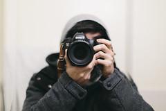 Self Portrait (drewrios) Tags: portrait chicago blur me field self photography 50mm prime mirror bokeh drew depth rios f12 selfie 2014